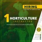 HIRING: Horticulture Instructor