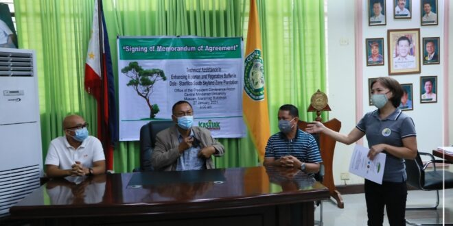 "MOA signing on the project titled ""Technical Assistance in Enhancing the Riparian and Vegetative Buffer in Dole- Stanfilco South Skyland Zone Plantation"""