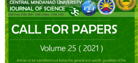 CMU Journal of Science CALL FOR PAPERS: Volume 25 (2021)