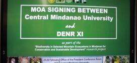 "Central Mindanao University MOA SIGNING with DENR XI as part of the ""Biodiversity in Selected Mountain Ecosystems of Mindanao for Conservation and Sustainable Development"" research project."