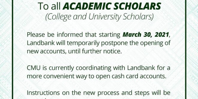 ANNOUNCEMENT: To all ACADEMIC SCHOLARS (College and University Scholars)