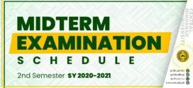 Midterm Examination Schedule, 2nd Semester S.Y. 2020-2021